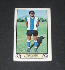 KUSTUDIC HERCULES ALICANTE LIGA ESPAÑA 1979-1980 CARD EDICIONES ESTE PANINI