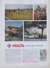 1960 The Malta Government Tourist Board Italy PRINT AD Polo Celebrations Sea +