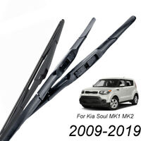 XUKEY 3pcs Front Rear Windshield Wiper Blades For Kia Soul MK1 MK2 2009-2019
