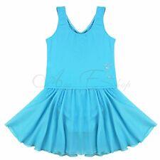 Girls Gymnastics Ballet Leotard Dress Tutu Skirt Skate Party Dance Wear Costumes