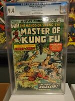 MASTER OF KUNG FU 24 CGC 9.4,  SHANG-CHI MARTIAL ARTS MARVEL COMICS 1975