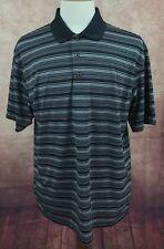 Grand Slam Performance Air Flow Golf Polo Black Stripe Shirt Men's XL