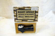 Nikon F Serie Original Casi Nuevo Accesorio de ángulo de visión correcta en caja.