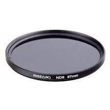 67mm Neutral Density ND8 Filter for Canon Nikon Sony Fuji Samsung Lens
