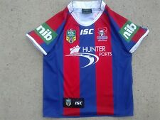 Cute kids size Newcastle Knights fully sponsored NRL rugby league jersey