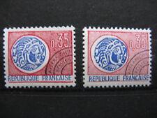 FRANCE neufs  préoblitérés n° 127  MONNAIE GAULOISE (impressions différentes)