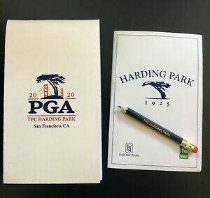 2020 PGA Championship Official Yardage Book + Harding Park Scorecard + Pencil