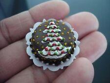 Chocolate Christmas Tree Cake Dollhouse Miniatures Food Bakery Season X'mas 4