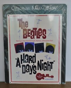 Reproduction Vintage metal sign - The Beatles - A Hard Day's Night - Man cave