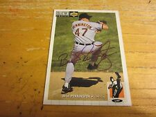Brad Pennington Autographed Signed 1994 Collector's Choice #227 Card MLB Orioles