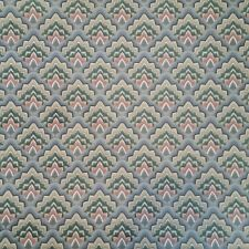 "Vintage Wallpaper 21"" Wide Partial Roll Fish Scale Scallop Blue Yellow Green"