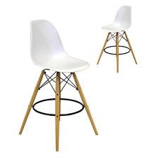 Eames Eiffel Style Dining Chair Retro DESIGNER Bar Stool White