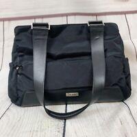 Tumi Black Nylon Leather Straps Luggage Personal Diaper Bag