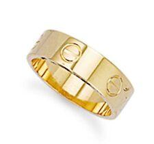 Markenlose Echte Edelmetall-Ringe ohne Steine aus Gelbgold