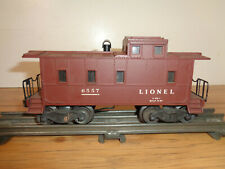 LIONEL O GAUGE # 6557 LIGHTED CABOOSE WITH WORKING SMOKE UNIT