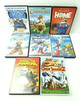 Kid's DVDs Lot of 8 Smurfs 2 Home Kung Fu Panda Snowmen Robots Fluke Chestnut M4