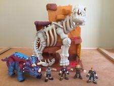 Fisher Price Imaginext T Rex Island of Lost Creatures w Cavemen Figures Dinosaur