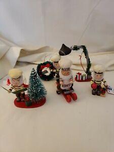 Lot of 5 Hersey's Collector Series Kurt S. Adler Christmas Figurine Ornaments