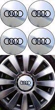 4 adhésifs AUDI chrome logo noir de 40 mm  à 76  mm  Pour Centre De Jantes