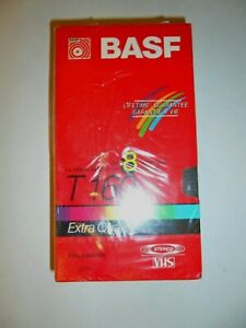 Lot of 2 BASF T-160 Extra Quality 8 Hour Blank VHS Video Cassette Tapes