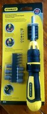 NEW STANLEY Ratcheting Screwdriver with 20  Bits and Nut Drivers