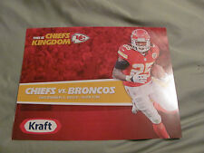 Kansas City Chiefs 12-1 2013 Game Day Roster Card  DENVER BRONCOS JAMAAL CHARLES