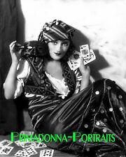 CARMEL MYERS 8X10 Lab Photo 1920s Sexy Silent Era Playing Cards & Mask Portrait