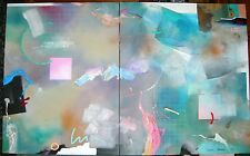 Original LARGE Signed Jonas Gerard Abstract Acrylic Painting 1987 US Reseller
