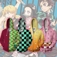 Demon Slayer Kimetsu no Yaiba Jacket Hoodie Kamado 3D Printed Sweater Tops Coat