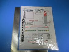 2005 Burton Snowboard Company Custom X 56 2X Lay-Up Sidewall Instructions M6176