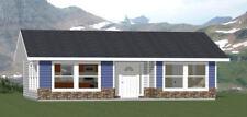 34x24 House -- 1 Bedroom 1 Bath -- 785 sq ft -- PDF Floor Plan -- Model 1