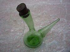 Porron en verre soufflé ancien/verre de fougère/belle marque de la canne