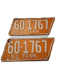 1951 Tennessee License Plate White County Pair