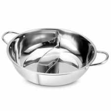 28cm Hot Pot Twin Divided Stainless Steel 28cm Cookware Hot Pot Ruled Compat SHJ
