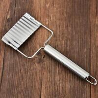 Stainless Steel Potato Strip Cutter Fries Chopper Vegetable Crinkle Slicer