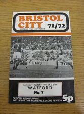 09/10/1971 Bristol City v Watford  (Excellent Condition)