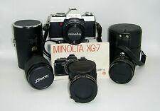 Collectible Vintage 35MM Minolta XG-7 Camera & Lenses Cases Camera Bag