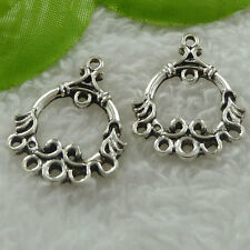 Free Ship 128 pieces tibet silver earring connector 30x23mm #1219