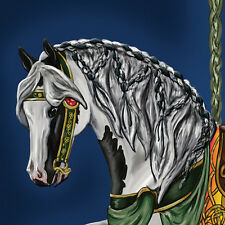 """Celtic Ailish"" ~ Gypsy Vanner Carousel Horse cards"