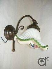 Appliques Wall Lamp Brass with Ceramics Green