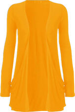 Womens Plus Size Boyfriend Cardigan Long Sleeve Jumper Pocket Cardigan Top 8-26