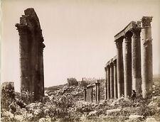 Jordanie Jerash Gérasa Photo Bonfils Albumine Vintage ca 1875