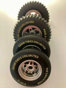 Tamiya Sand Scorcher Rough Rider SRB Alloy wheels and tyre set