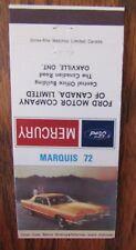 1972 FORD MERCURY MARQUIS CAR DEALER: OAKVILLE, ONTARIO -JL9