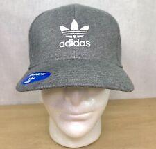 Adidas Originals Mixed Trefoil Snapback Hat Dark Heather Grey/white cap