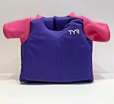 TYR Children's Start to Swim Flotation Shirt 30-50lbs, Purple Pink, Adjustable