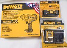 """DeWALT DCF899HP1 NEW 6.0Ah 20v MAX XR 1/2"""" Brushless Impact Wrench Kit"""