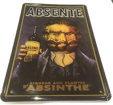 Absinthe ABSINTH français plaque Van Gogh taverne décoration murale vintage signe plaque étain