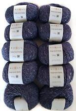 1000g Rowan Hemp Tweed Chunky 10 Deep Hanf dicke Wolle stricken Tweedgarn