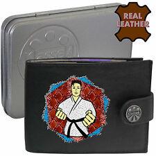 Cinturón Negro Artes Marciales Karate Taekwondo klassek Cuero Billetera Regalo Presente Estaño